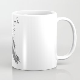 Born to be free (bw) Coffee Mug
