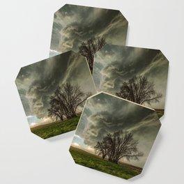 Just Over the Trees - Spring Storm Advances Over Western Nebraska Plains Coaster