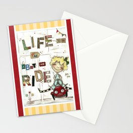 Life is All About the Ride - by Diane Duda Stationery Cards