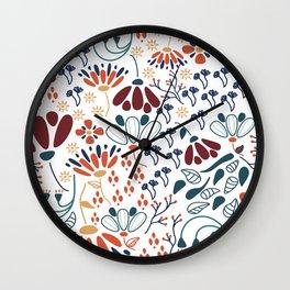 Dancing Florals Wall Clock