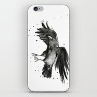 raven iPhone & iPod Skins featuring Raven by Olechka