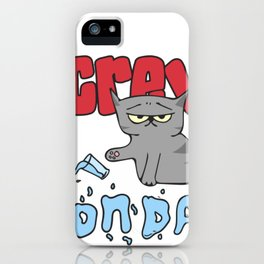 Hand Drawn Illustrations Screw Monday Hate Mondays Gift iPhone Case