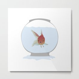 Stuck Goldfish Metal Print