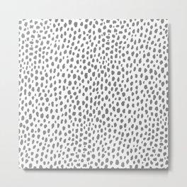 Gray Dalmatian Spots (gray/white) Metal Print
