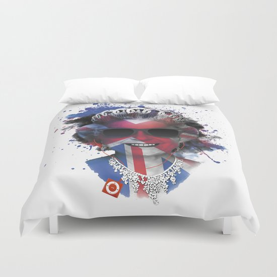 Queen Listen Music Duvet Cover