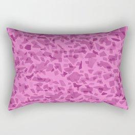 Hot Pink Terrazzo Tile Rectangular Pillow
