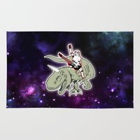 storm trooper Area & Throw Rugs featuring Space Storm Trooper by JK Designs