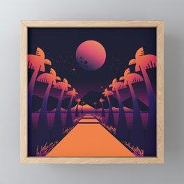 Road Summer Framed Mini Art Print