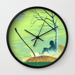 Stand beside me when I leave Wall Clock