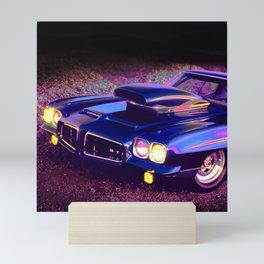 Classic Hot Rod in Magic Blue: Full Throttle! Mini Art Print