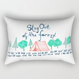Stay Out of the Forest Rectangular Pillow