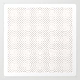 Bridal Blush Polka Dots Art Print