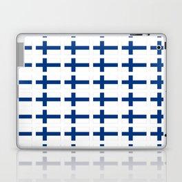 Flag of Finland 3 -finnish, Suomi, Sami,Finn,Helsinki,Tampere Laptop & iPad Skin