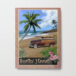 Surfin' Hawaii Metal Print