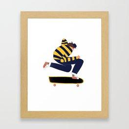 Skateboarder. Framed Art Print