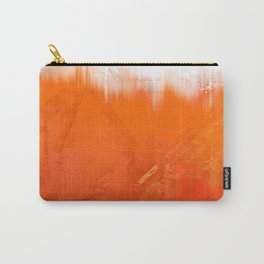 White and Orange Carry-All Pouch