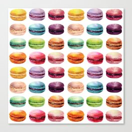 Macaroons Stacked Canvas Print