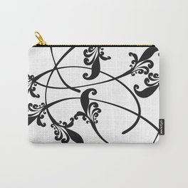 Ink Flowers Design Carry-All Pouch