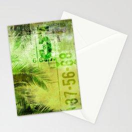 Green Urban Tropics Stationery Cards