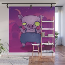 Zombie Pig Wall Mural