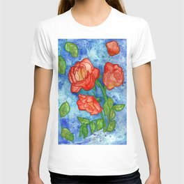Peachy Colored Roses T-shirt