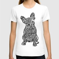 frenchie T-shirts featuring Polynesian  Frenchie by Huebucket