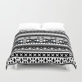 Aztec Pattern Black and White Duvet Cover
