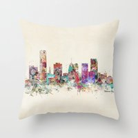 oklahoma Throw Pillows featuring oklahoma city oklahoma by bri.buckley