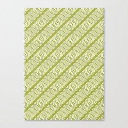 shortwave waves geometric pattern Canvas Print