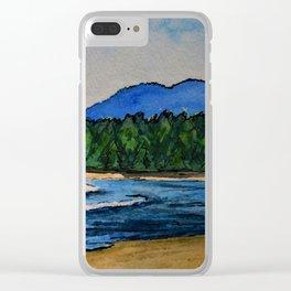 Mackenzie Beach Clear iPhone Case