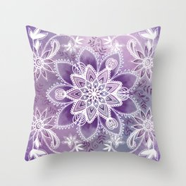 Happiness Purple Throw Pillow