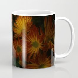 Red Striped Flowers Coffee Mug
