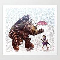 Bioshock - Rain Art Print