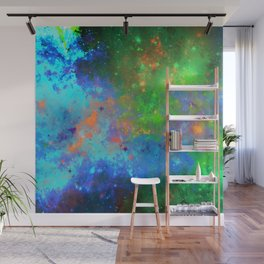 Speed Of Light - Abstract space painting Wall Mural