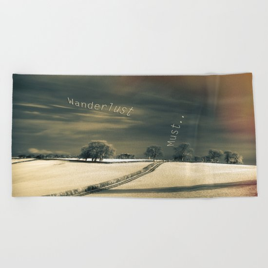 I Wander because... Beach Towel