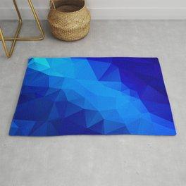 Abstract digital art polygon triangles Rug