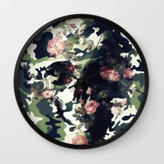 Camouflage Skull Wall Clock