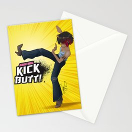 Anime Girls Kick Butt! Stationery Cards