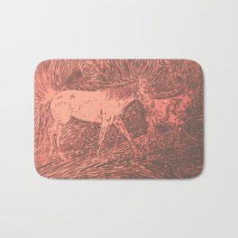 Abstract Sugar and Buford by Robert S. Lee Bath Mat