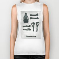 bones Biker Tanks featuring Bones by Carrianne Bullard