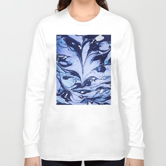 Dark and Bright and Blue Long Sleeve T-shirt