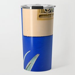 Moroccan Garden In Blue Travel Mug