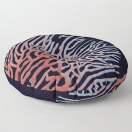 Intricate coral network Floor Pillow