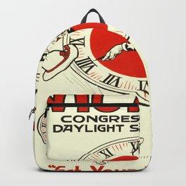 Vintage poster - Daylight Savings Backpack