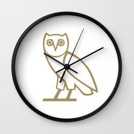 ovoxo new owl gold brand 2018 Wall Clock