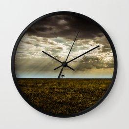 The Lone Acacia Wall Clock