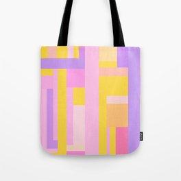 Pink Purple Geometry Tote Bag