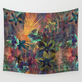 Haleiwa Tropical Orange Wall Tapestry