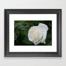 The Rose Of Love Framed Art Print