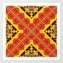 ethnic cross red by hennigdesign